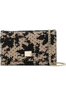 Jimmy Choo Lizzie Lace Clutch Bag - Preto