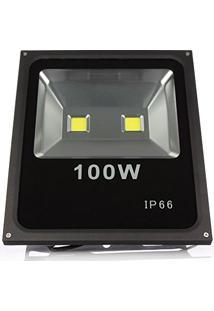 Refletor Holofote Led Branco Frio 6000K Luz Do Dia Bivolt 100W