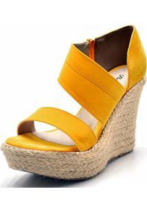 Sandã¡Lia Anabela Flor Da Pele Amarela - Amarelo - Feminino - Dafiti
