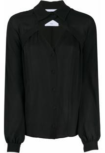 Moschino Blusa Com Recorte Vazado - Preto