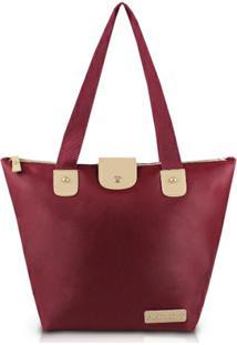 Bolsa Dobrável Jacki Design Microfibra - Feminino-Vermelho