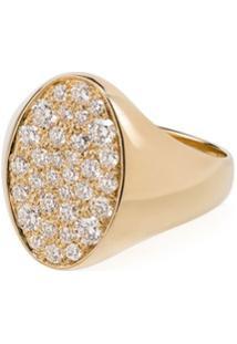 Dru. Anel Galaxy De Ouro 14K Com Diamante - Metallic