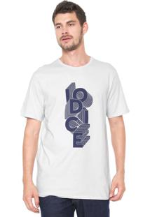 Camiseta Iódice Lettering Azul