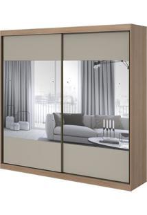 Guarda-Roupa Royal Com Espelho - 2 Portas - Carvalho Naturale Com Offwhite
