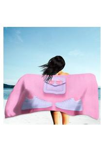 Toalha De Praia / Banho Pink Único