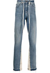 Val Kristopher Drawstring-Waist Straight-Leg Jeans - Azul