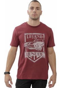 Camiseta Cheiro De Gasolina Legend Muscle Vinho