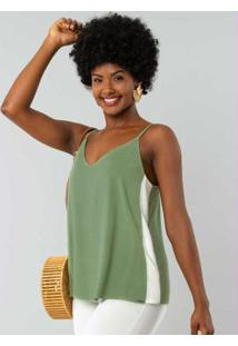 Blusa Tecido Rayon Twill Verde