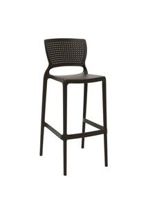 Cadeira Alta Bar Tramontina 92138109 Safira Summa Marrom