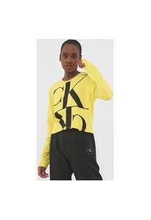 Blusa Calvin Klein Jeans Mirror Amarela