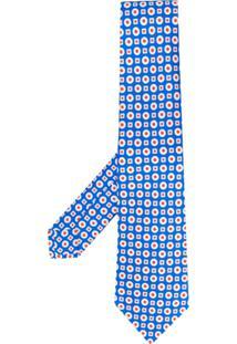 Kiton Gravata Com Padronagem De Poás - Azul