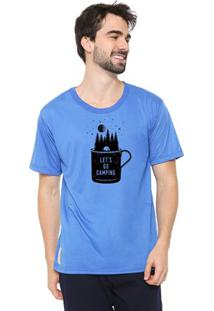Camiseta Masculina Eco Canyon Let'S Go Azul