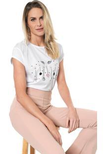 Camiseta Lez A Lez Bordada Branca - Branco - Feminino - Algodã£O - Dafiti