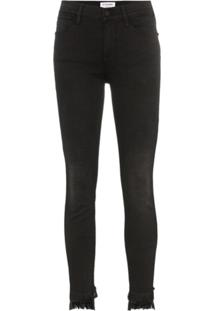 Frame Calça Jeans Skinny 'Le High' - Preto