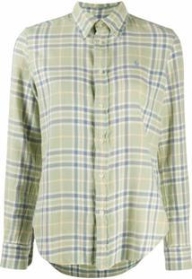 Polo Ralph Lauren Camisa Xadrez Com Abotoamento - Verde