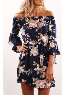 Vestido Floral Tomara Que Caia Manga
