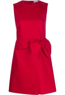 Redvalentino Vestido Com Detalhe De Laço - Vermelho
