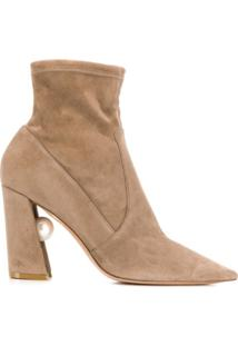 Nicholas Kirkwood Ankle Boot Miri Com Stretch - Marrom