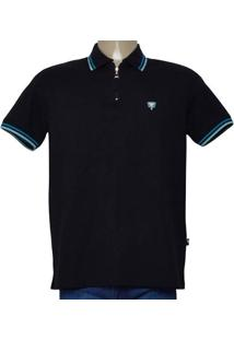 Camisa Masc Cavalera Clothing 03.01.0645 Preto/Azul/Verde