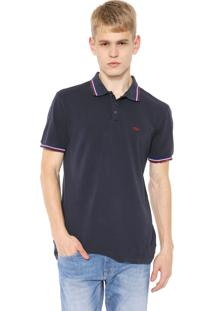 Camisa Polo Calvin Klein Jeans Reta Logo Azul-Marinho