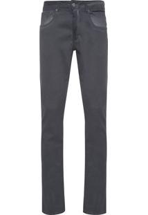 Calça Masculina Color Skinny - Cinza