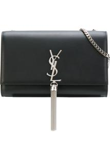 Saint Laurent Bolsa Média 'Monogram Kate' - Preto