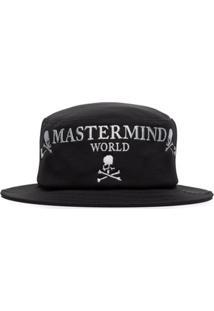 Mastermind Japan Chapéu Bucket Com Logo Bordado - Preto