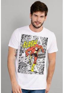 Camiseta Bandup! The Flash Justice - Masculino-Branco