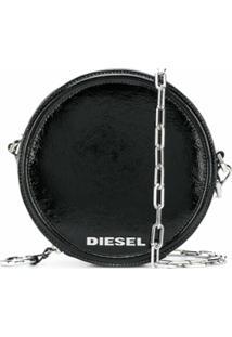 Diesel Bolsa Transversal Redonda Ophite - Preto