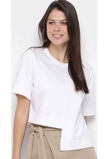 Blusa Osklen Unequal Soft Cotton Feminina - Feminino-Branco