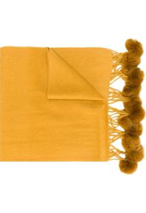 N.Peal Cachecol Com Pompons - Amarelo