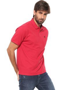 Camisa Polo Timberland Reta Millers Vermelha