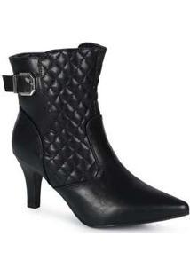 Ankle Boots Feminina Mooncity Matelassê