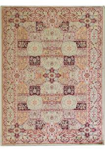 Tapete Isfahan Retangular Veludo 60X120 Cm Creme