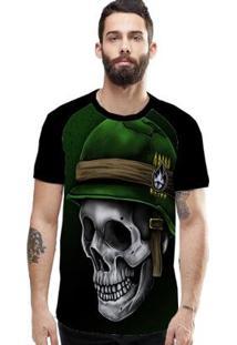 Camiseta Stompy Raglan Modelo 135 Masculina - Masculino-Preto