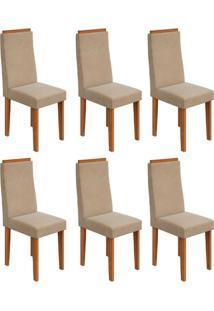 Conjunto Com 6 Cadeiras Dafne Rovere E Creme
