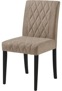 Cadeira Menta Assento Cor Bege Com Base Laca Preto Fosco - 46450 - Sun House