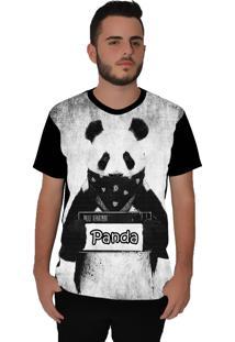 Camiseta Ramavi Panda Stuck Preta