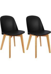 Conjunto Com 2 Cadeiras Wave Preto
