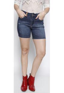 Bermuda Jeans Estonada - Azulmiss Bella