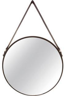 Espelho Com Borda- Espelhado & Preto- 75,5X45,5X3,5Cmart
