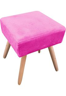 Puff Decorativo Ibiza Quadrado Suede Pink D'Rossi
