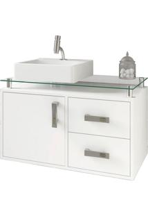 Gabinete De Banheiro Évora 1 Pt 2 Gv Branco