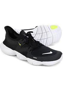 Tênis Nike Free Rn 5.0 Masculino - Masculino-Preto+Branco