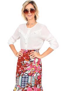 Camisa Linda Valentina Lisa Branca