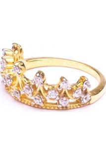 Anel Boca Santa Semijoias Princesa Real Falange Ouro Amarelo - Kanui
