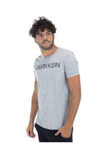 Camiseta Calvin Klein Básica - Masculina - Cinza