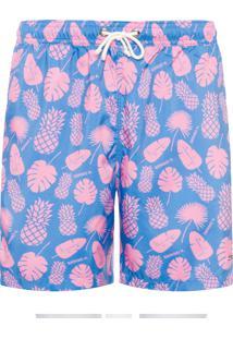 Shorts Masculino Abacaxi - Azul