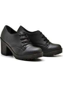 Bota Casual Feminina Trivalle Shoes Preta