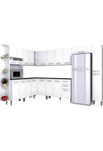 Cozinha Compacta 10 Peças Karina -Poquema - Branco